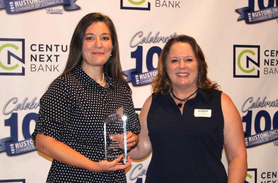 """Sarah Warren Ruston-Lincoln Chamber of Commerce """"Origin Bank Young Business Leader of the Year"""""""